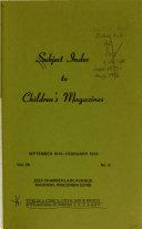 Subject Index to Children's Magazines