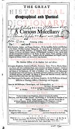 THE GREAT HISTORICAL, Geographical and Poetical DICTIONARY
