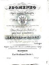 Idomeneo: Oper in 3 Aufzügen