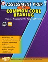 Assessment Prep for Common Core Reading  Grade 7 PDF