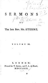 Sermons by the Late Rev. Mr. Sterne: Volume 3