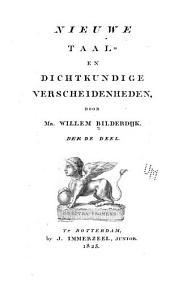 Nieuwe taal- en dichtkundige verscheidenheden: Volume 3
