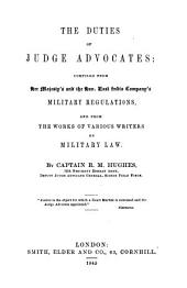 The duties of judge advocates