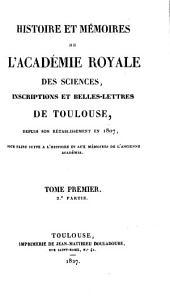 Histoire et mémoires. [Continued as] Mémoires