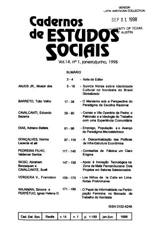 Cadernos de estudos sociais PDF
