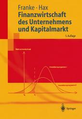 Finanzwirtschaft des Unternehmens und Kapitalmarkt: Ausgabe 5