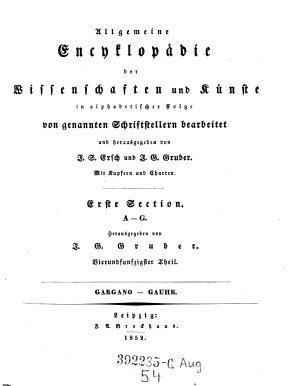 Erste Section A   G   Gargano   Gauthe PDF