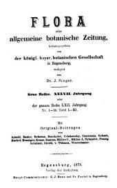 Flora: oder, Allgemeine botanische Zeitung, Band 62
