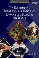 The Economics of Ecosystems and Biodiversity  Ecological and Economic Foundations PDF