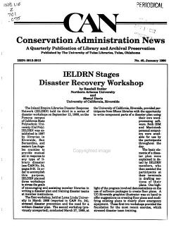Conservation Administration News PDF