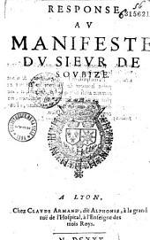 Response au Manifeste du Sieur de Soubize (par Jérémie Ferrier)