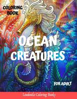 Ocean Creatures Coloring Book For Adults