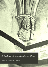 A History of Winchester College
