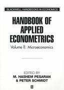 Handbook of Applied Econometrics Volume II  Microeconomics Book