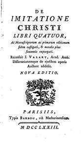 De Imitatione Christi Libri quatuor ...