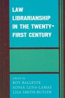 Law Librarianship in the Twenty first Century PDF