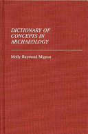 Dictionary of Concepts in Archaeology PDF