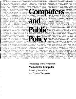 Computers and Public Policy PDF