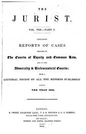 The Jurist: Volume 8, Part 1