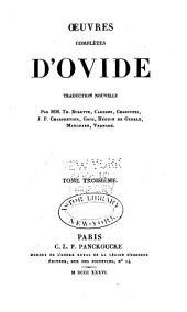 Œuvres complètes d'Ovide: Volume3