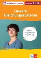 10 Minuten Training Mathematik Lineare Gleichungssysteme 8  10  Klasse PDF