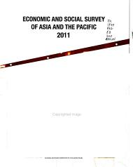 Economic and Social Survey of Asia and the Pacific 2011 PDF