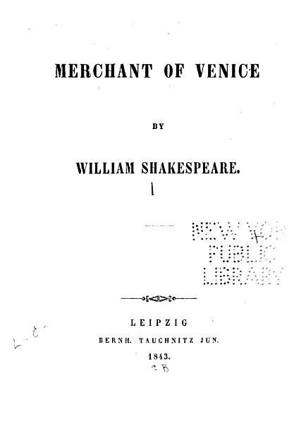 Download Merchant of Venice Book