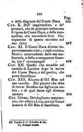 Gil Blas di Santillano: storia piacevole del Signor Le Sage, Volume 4