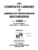 The Complete Library of American Phonograph Recordings PDF