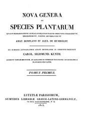 Nova genera et species plantarum: Volumes 1-2