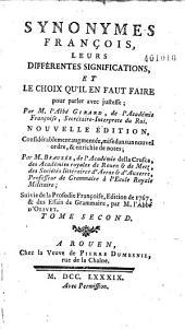 Synonymes françois... par Gabriel Girard. [Suivi de] Traité de la prosodie françoise par l'Abbé D'Olivet