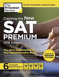 Cracking the New SAT Premium Edition with 6 Practice Tests  2016 Book