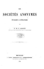 Les sociétés anonymes établies à l'étranger