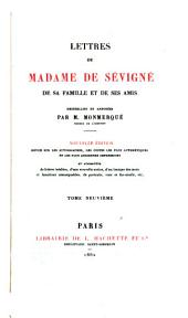 Lettres de Madame de Sévigné: de sa famille et de ses amis, Volume9