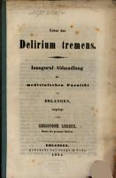 Ueber das Delirium tremens PDF