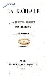 La Kabbale ou la philosophie religieuse des hébreux par Ad. Franck