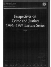 Perspectives on Crime and Justice: 1996-1997