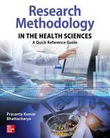 Research Methodology in the Health Sciences  A Quick Reference Guide PDF