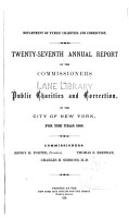 Annual report of the Department of Public Charities of the City of New York     v 27  1886 PDF