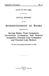 Annual Report Relative to Savings Banks [etc.̈