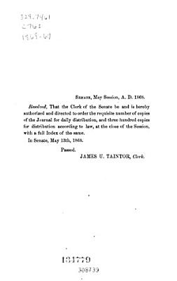 Journal of the Senate of the State of Connecticut