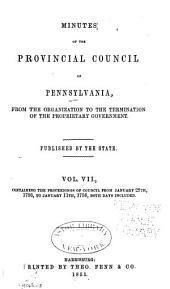 Colonial Records of Pennsylvania: Volume 7; Volume 1851