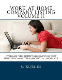 Work-at-Home Company Listing Volume II