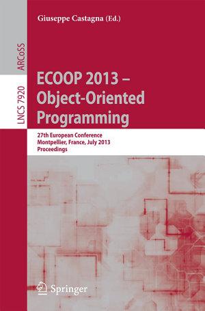 ECOOP 2013    Object Oriented Programming