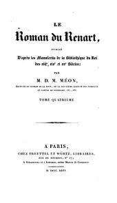 Le Roman du Renart: Volume4