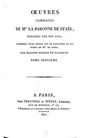 Oeuvres complètes: Delphine, 3, Volume 7