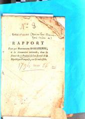 Rapport fait par Maximilien Robespierre, à la Convention nationale, dans la séance du 7 prairial de l'an second de la République française, une et indivisible