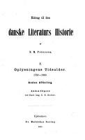 Bidrag til den danske literaturs historie  Oplysningens tidsalder   1750 1800 PDF