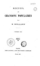Recueil de chansons populaires: Volumes2à3