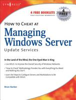 How to Cheat at Managing Windows Server Update Services PDF